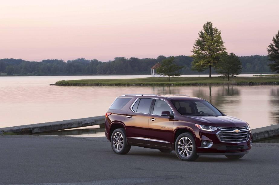 La remise à niveau du Chevrolet Traverse se fonde sans complexe sur le principe du «toujours plus». La nouvelle mouture s'allonge et pousse en hauteur et en largeur pour mieux toiser la concurrence. (Photo : Chevrolet)