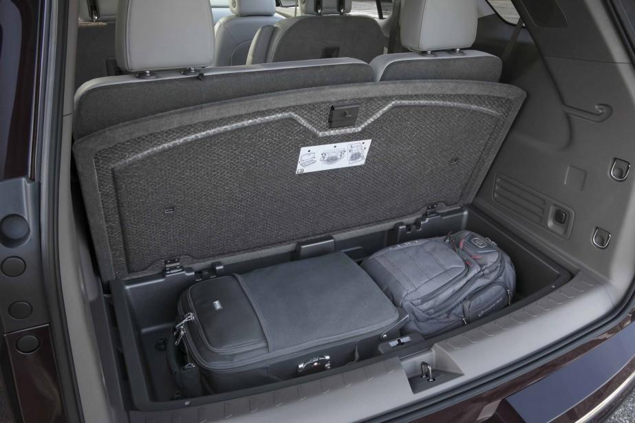 La troisième rangée de sièges laisse de la place à une soute convenable. (Photo : Chevrolet)