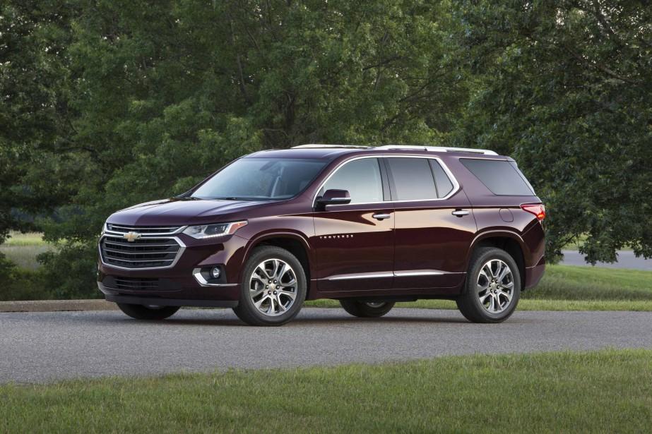 Le nouveau Traverse a perdu quelque 160 kg, dit Chevrolet. Mais ce chiffre ne touche que le modèle à quatre cylindres à traction. Qu'en est-il des déclinaisons V6 à rouage intégral plantureusement équipées ? Plus de deux tonnes, assurément. | 6 décembre 2017