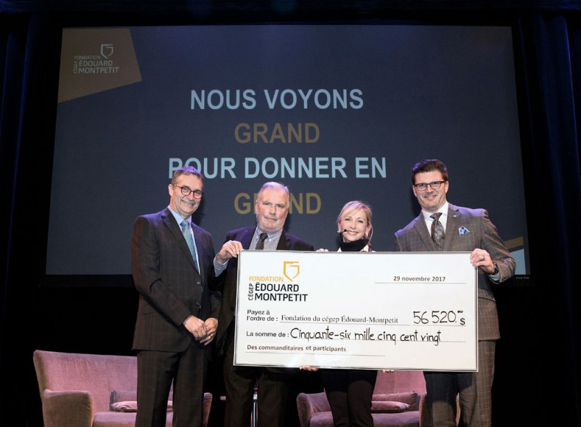 De gauche à droite: Pierre Côté, Jean-Philippe Décarie,... (Photo fournie par la Fondation)