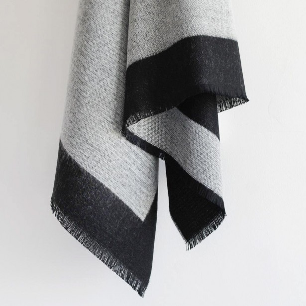 ÉCHARPE CHÂLE   Tellement à la mode présentement, l'écharpe châle sera un cadeau apprécié par les mamans de tout âge. Se porte à l'extérieur, par-dessus un manteau, ou à l'intérieur, pour créer un look détendu et douillet. Super douce et réversible. Écharpe châle Bella Fraanklin Reversible, 105 $, North Standard Trading Post | 6 décembre 2017