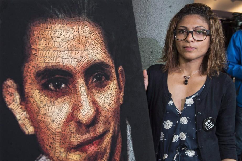 La femme de Raïf Badawi, Ensaf Haidar.... (Photo Paul Chiasson, archives PC)