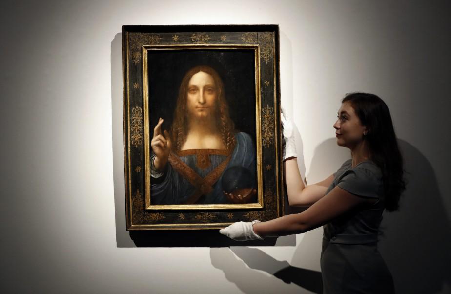 LeSalvator Mundiest la dernière toile connue de Léonard... (PHOTO AP)