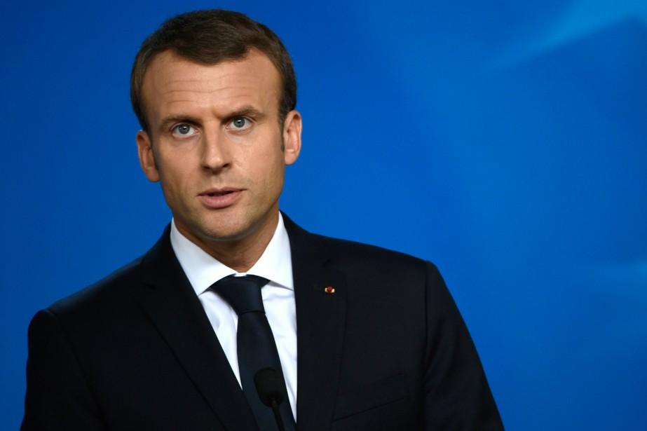 Le président français Emmanuel Macron s'est vu attribuer... (PHOTO ARCHIVES AFP)