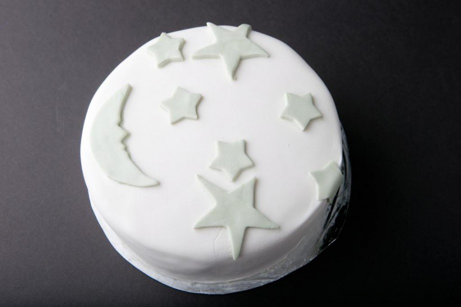 Le gâteau réalisé par notre journaliste Sophie Ouimet... (Photo David Boily, La Presse)