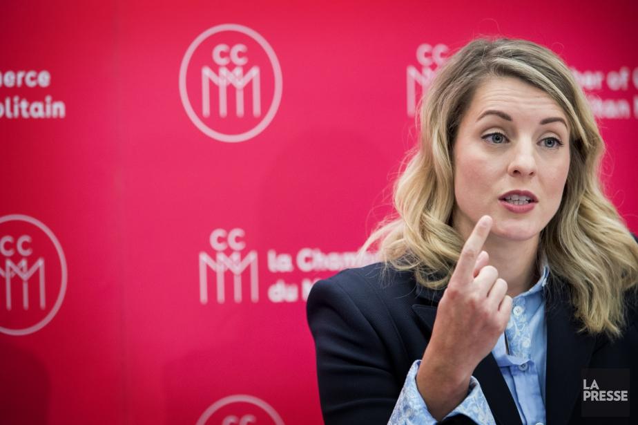 La ministre Mélanie Joly était l'invitée de la... (PHOTO MARCO CAMPANOZZI, LA PRESSE)