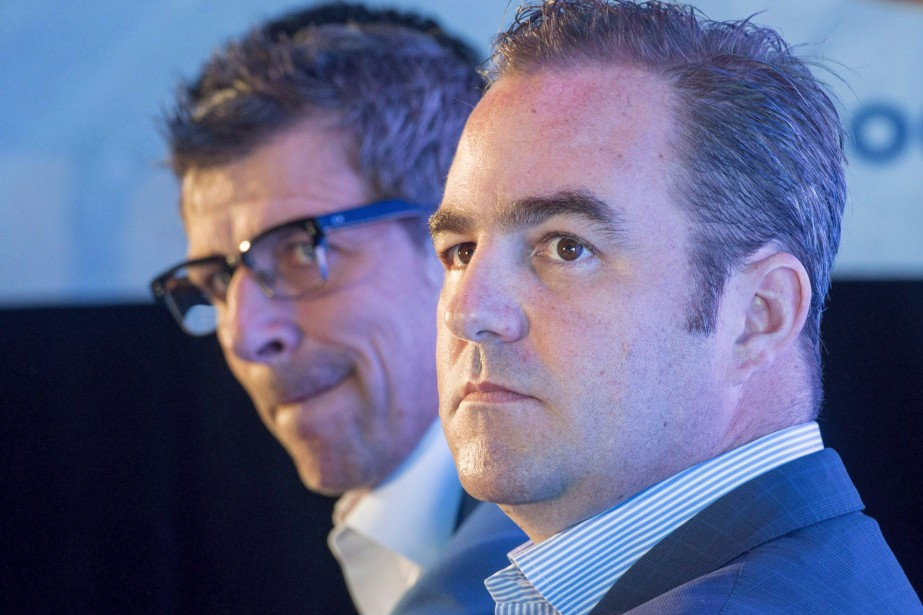 Geoff Molson et Marc Bergevin.... (Photo archives La Presse canadienne)
