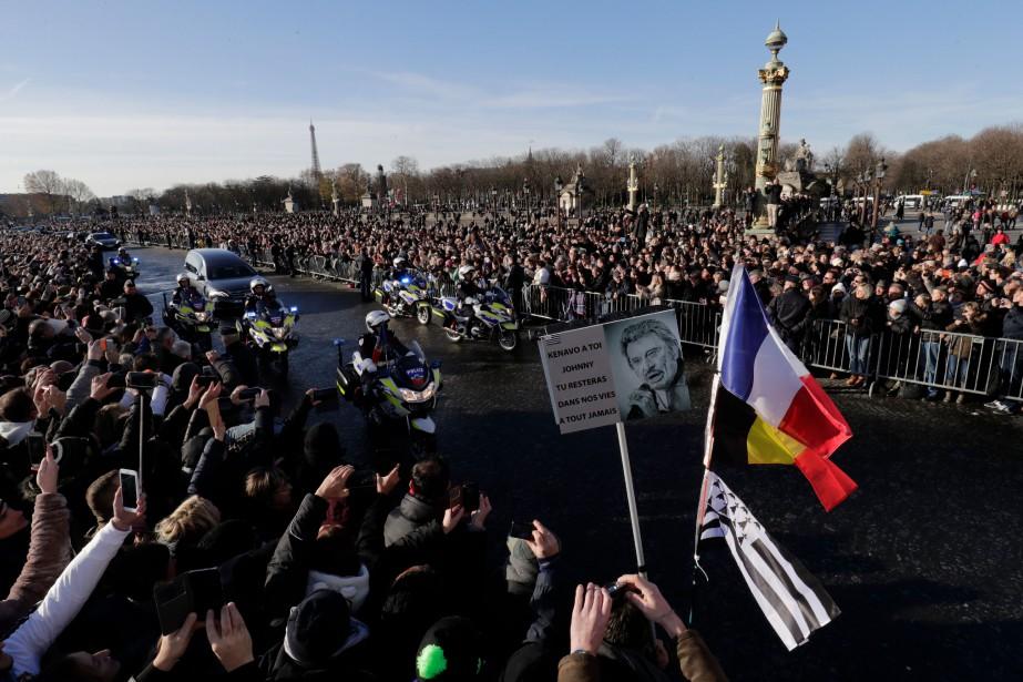 Les funérailles de Johnny Hallyday ont lieu à... (Photo Thomas SAMSON, AFP)