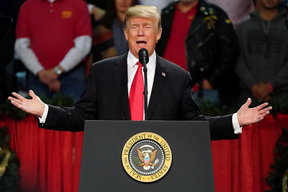 Donald Trump a prononcé un discours lors d'un... (PHOTO CARLO ALLEGRI, REUTERS)