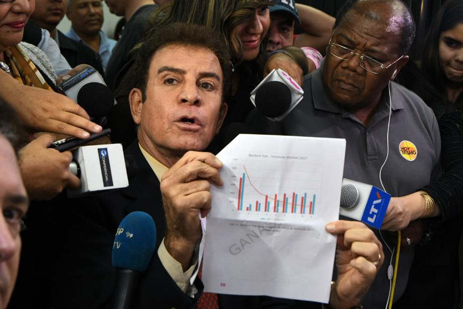 Le chef de l'Alliance de l'opposition contre la... (PHOTO ORLANDO SIERRA, AFP)
