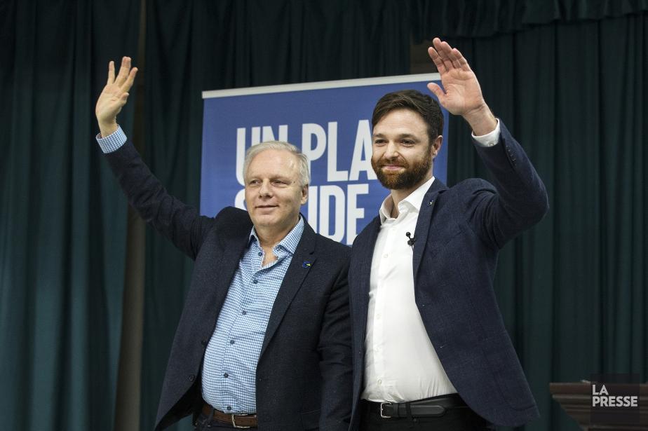 Le candidat péquiste dans Gouin, Olivier Gignac, en... (PHOTO ROBERT SKINNER, LA PRESSE)