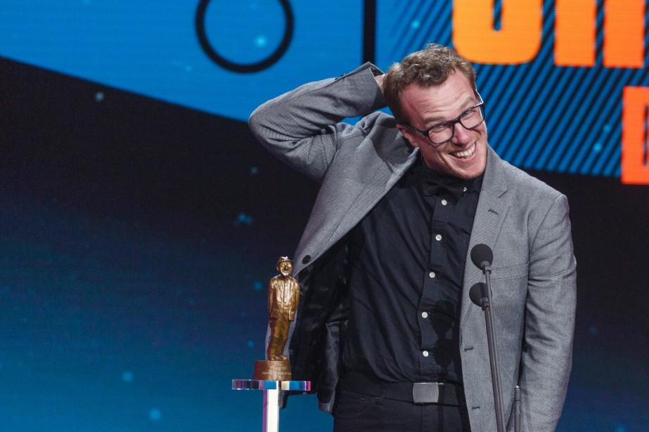 Charles Dauphinais a remporté l'Olivier du metteur en scène de l'année, pour le spectacle  Le goût du risque de Pierre Hébert. | 10 décembre 2017