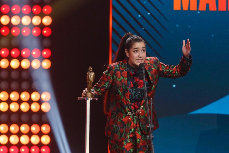 Mariana Mazza a été sacrée humoriste de l'année au gala... | 2017-12-10 00:00:00.000