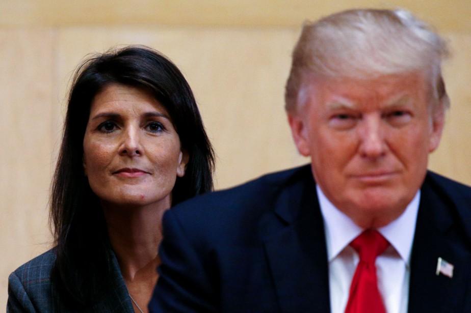 L'ambassadrice américaine à l'ONU Nikki Haley et Donald... (REUTERS)