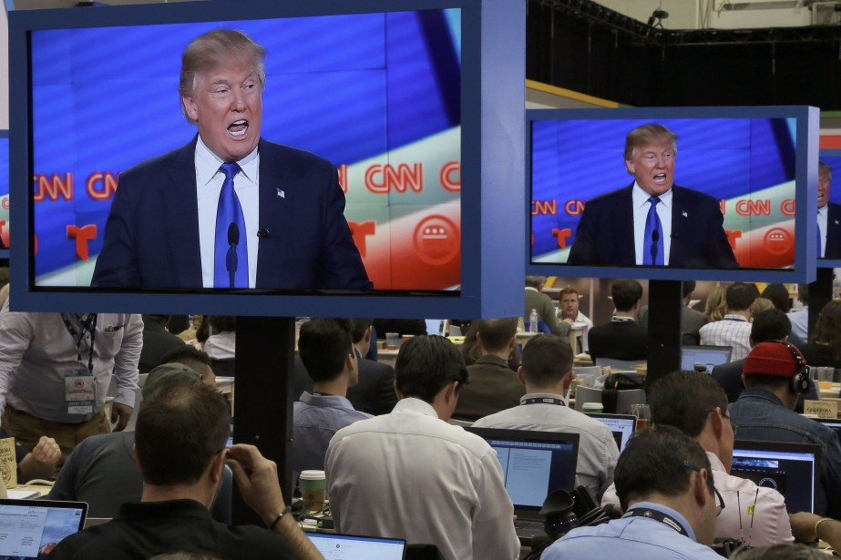 Donald Trump durant un débat électoral à CNN.... (Photo Richard Carson, archives REUTERS)