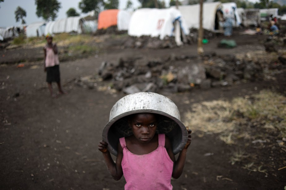 «Au moins 400 000 enfants de moins de... (PHOTO AFP)