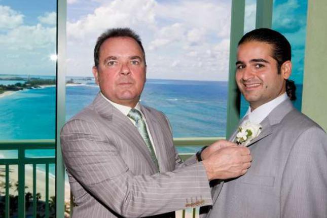 Vittorio Mirarchi (à droite) est le protégé du... (PHoto déposée en cour)
