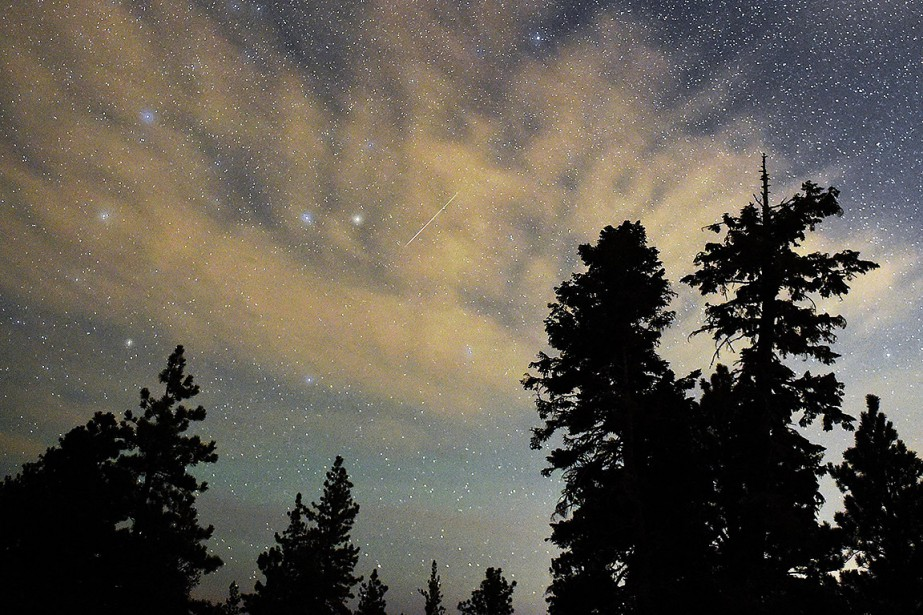 Sur cette photo prise au Nevada, une étoile... (Ethan Miller, GETTY IMAGES NORTH AMERICA via AFP)