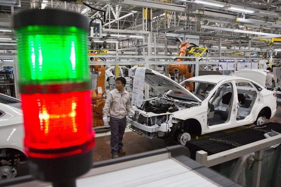 La chaîne d'assemblage dans l'usine BAIC de Pékin. (AP)