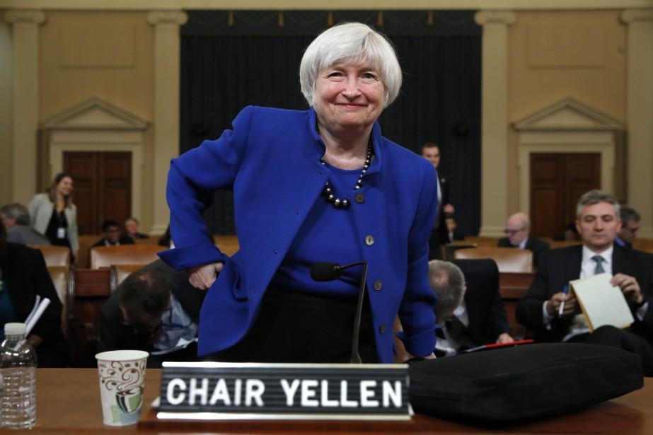 La présidente sortante de la Fed, Janet Yellen,... (Photo AP)