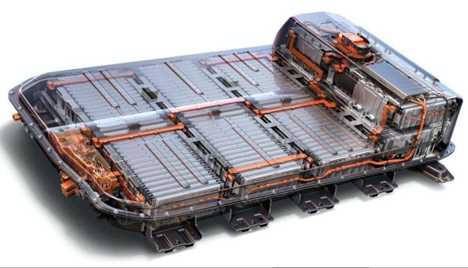 <strong>35 batteries de Chevrolet Bolt</strong> <strong>tout électrique. </strong>Elles pèsent chacune<strong></strong>435 kg. ()