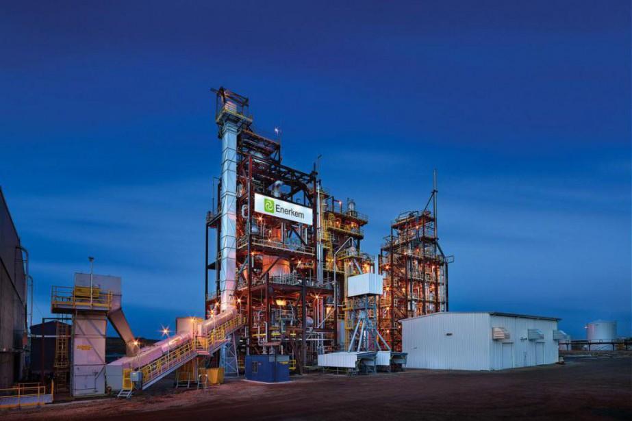 L'usine de production d'éthanol d'Enerkem à Varennes, pour... (PHOTO FOURNIE PARENERKEM)