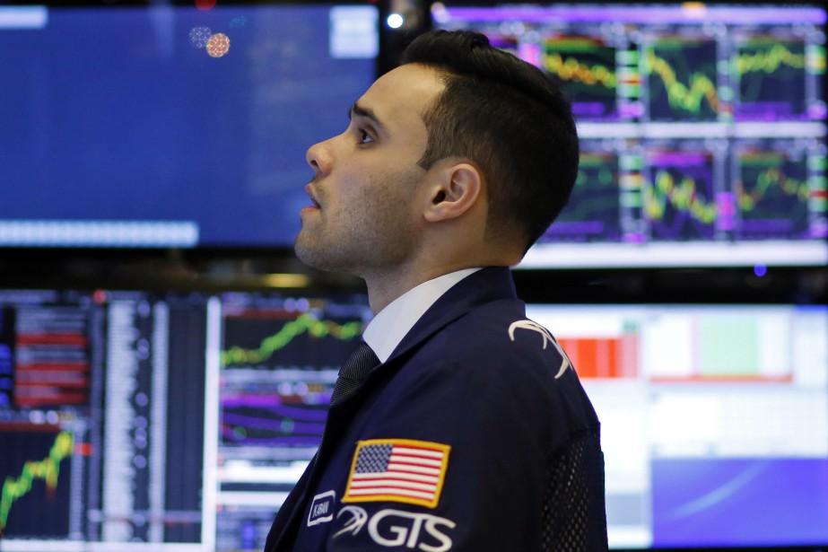 La Bourse de New York a terminé en baisse jeudi, affectée par la... (Photo AP)