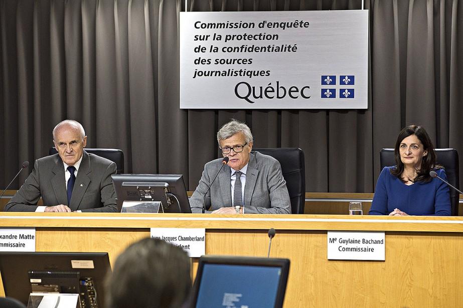 Le président de la Commission, le juge Jacques... (La Presse photo  PATRICK SANFACO)