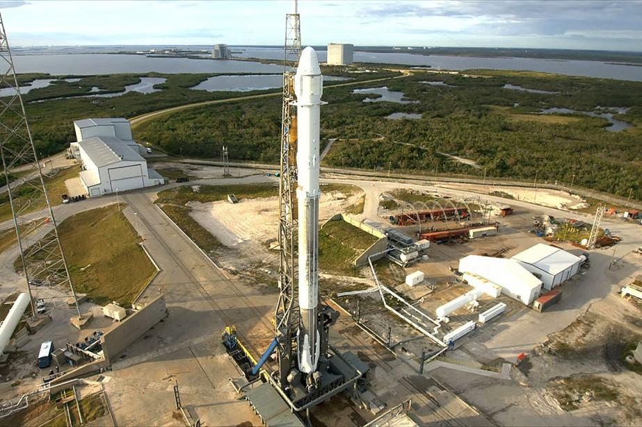 Le vaisseau, qui transporte 2,1 tonnes de vivres... (NASA)