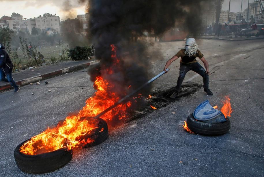Signe que la colère palestinienne ne s'apaise pas,... (Photo AFP)