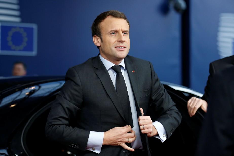 Emmanuel Macron... (REUTERS)