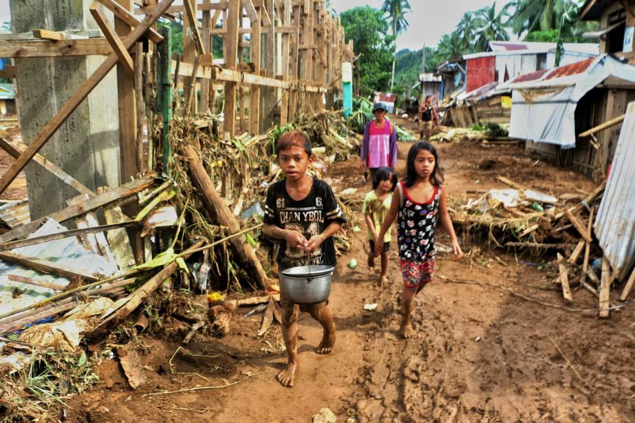 Les intempéries ont également endommagé les fermes et... (Photo ALREN BERONIO, AFP)