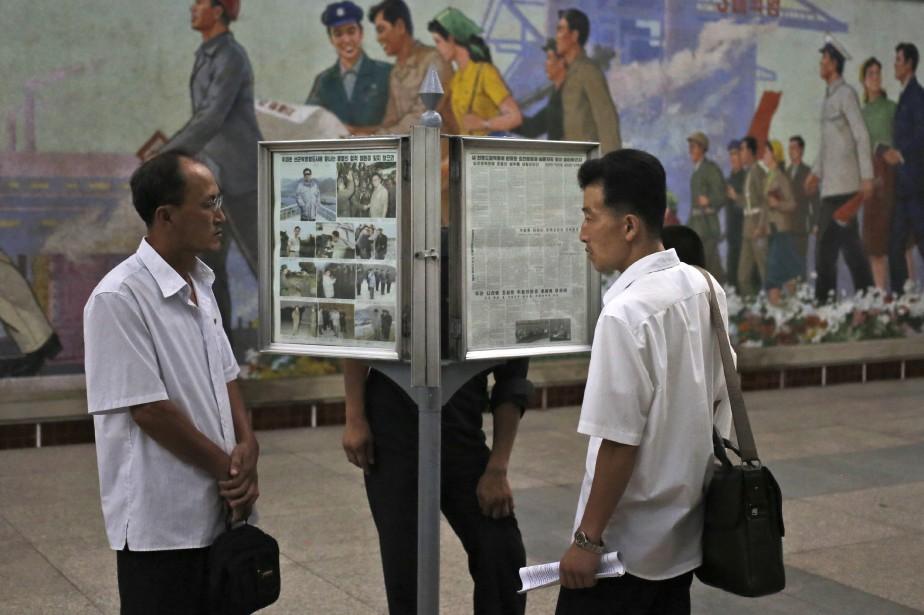 Scène de la vie quotidienne à Pyongyang.... (AP)