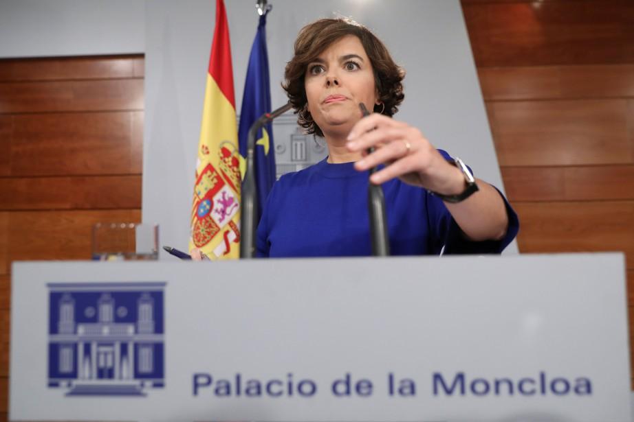 La numéro deux du gouvernement espagnole, Soraya Saenz... (Photo Susana Vera, REUTERS)