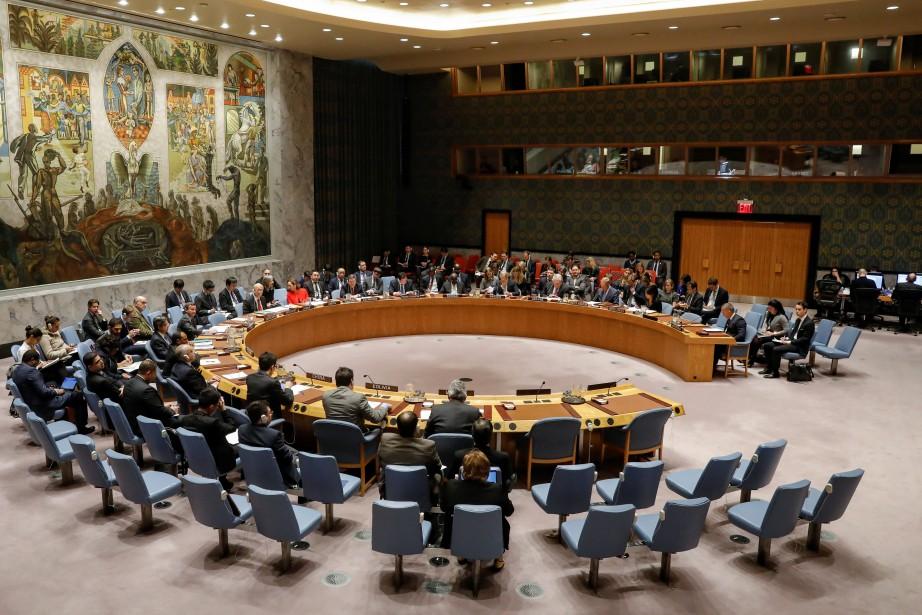 Le Conseil de l'ONU votait surun projet de... (PHOTO REUTERS)