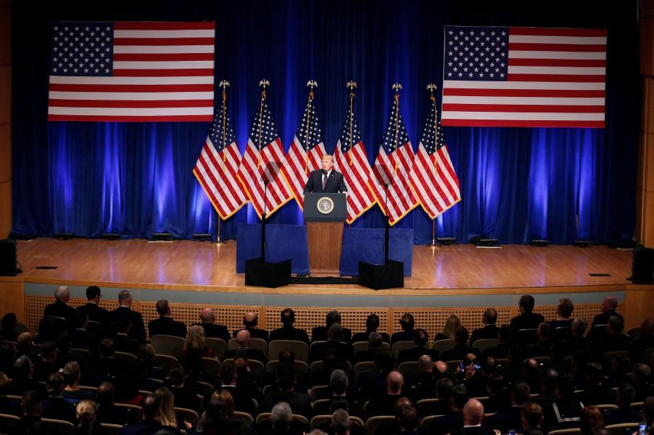 Donald Trump a préesenté sa«stratégie de sécurité nationale»... (PHOTO REUTERS)