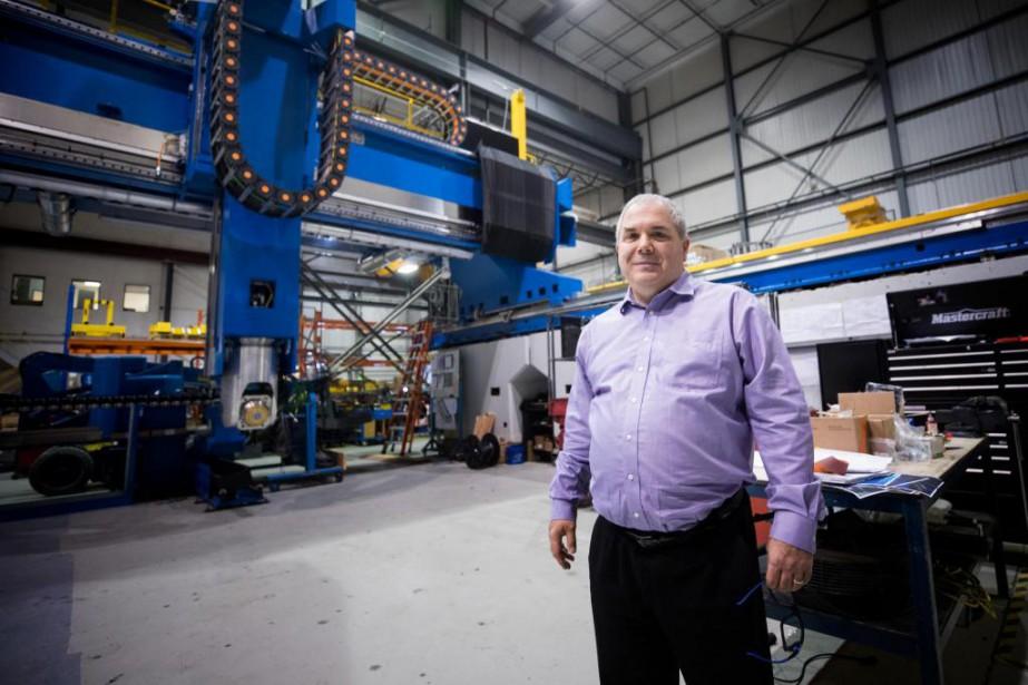 Guy Lalonde, directeur général de Fives Liné Machines... (Photo Marco Campanozzi, La Presse)