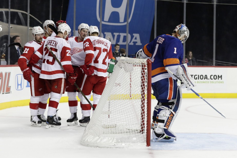 Les Red Wings ont gagné trois matchs à... (PHOTO Frank Franklin II, AP)