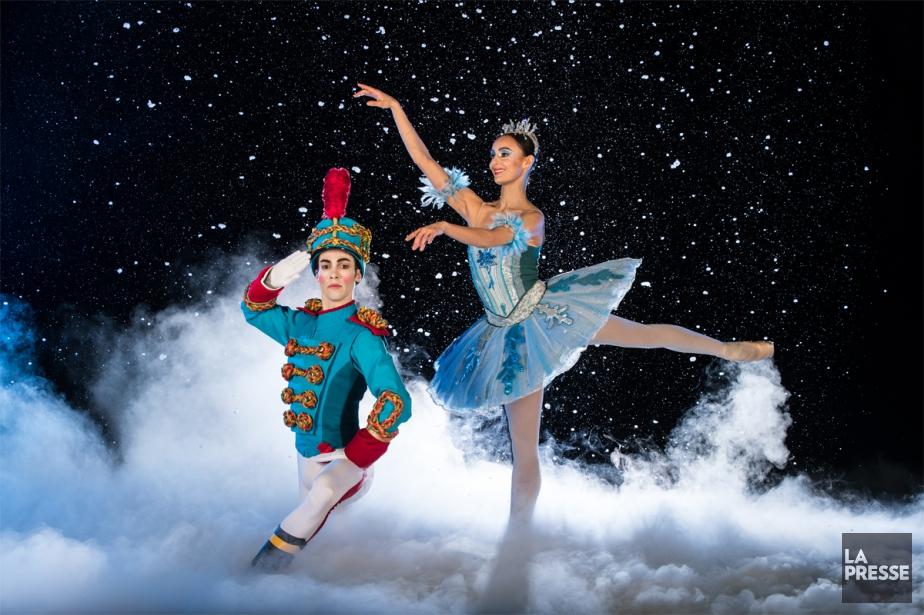 Matthew Cluff (Casse-Noisette) et Myriam Simon (la reine des neiges) ont posé pour nos photographes. (PHOTO MARTIN CHAMBERLAND, LA PRESSE)