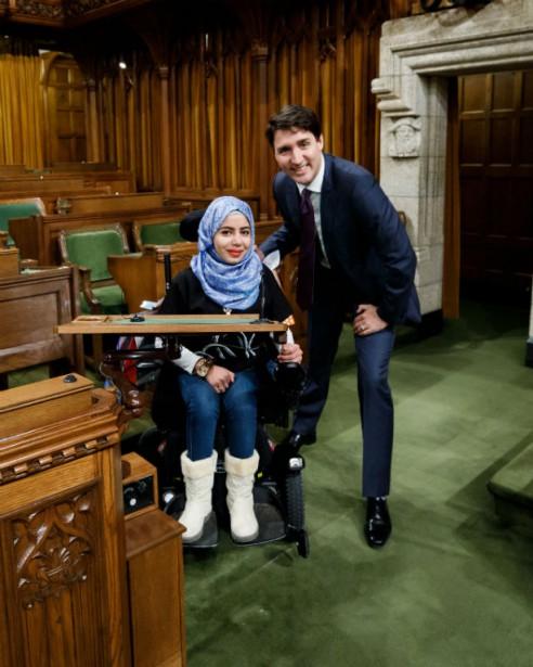 Justin Trudeau et Marwa Harb.... (Photo fournie par la Fondation)