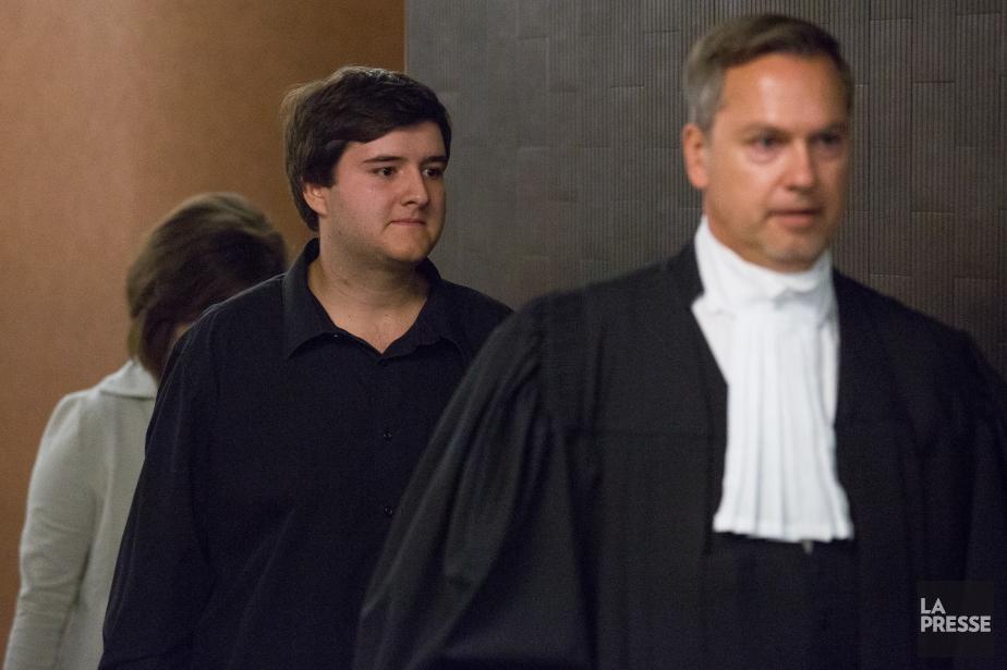 Alexandre Coderre et son avocat Conrad Lord... (Photo Simon Giroux, archives La Presse)