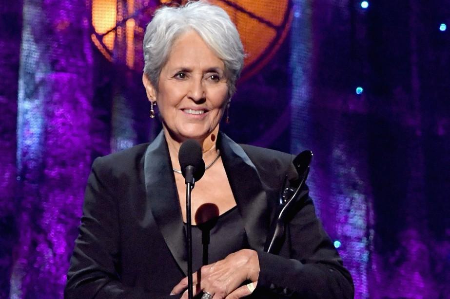 La grande dame américaine de la folk Joan Baez a annoncé... (PHOTO ARCHIVES AFP)