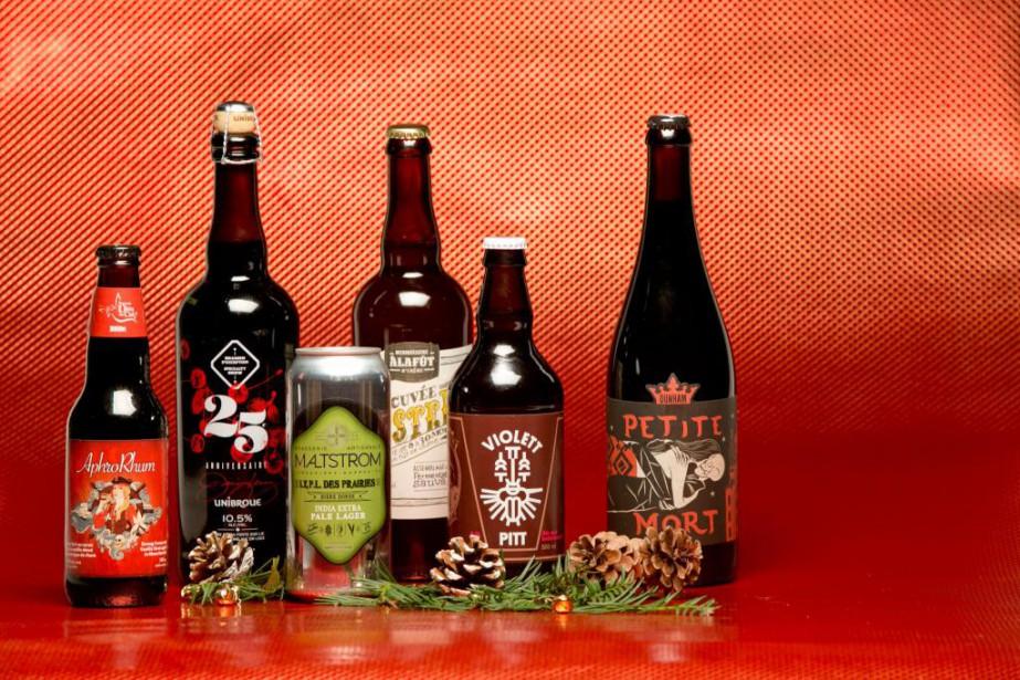 Les bières artisanales font d'excellents cadeaux.... (PHOTO DAVID BOILY, LA PRESSE)
