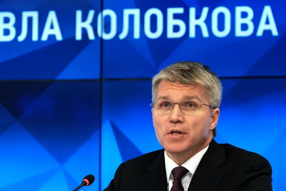 Le ministre russe des Sports, Pavel Kolobkov.... (Photo Yuri Kadobnov, AFP)