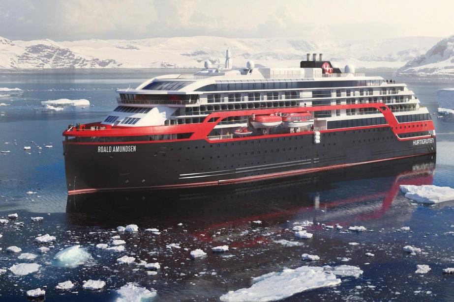 Le MS Roald Amundsensera déployé en 2019 dans... (Photo tirée du site web d'Hurtigruten)