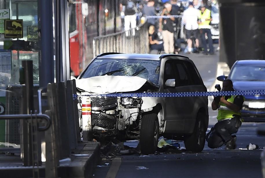 L'attaque est survenue sur Flinders Street, une artère... (PHOTO AP)