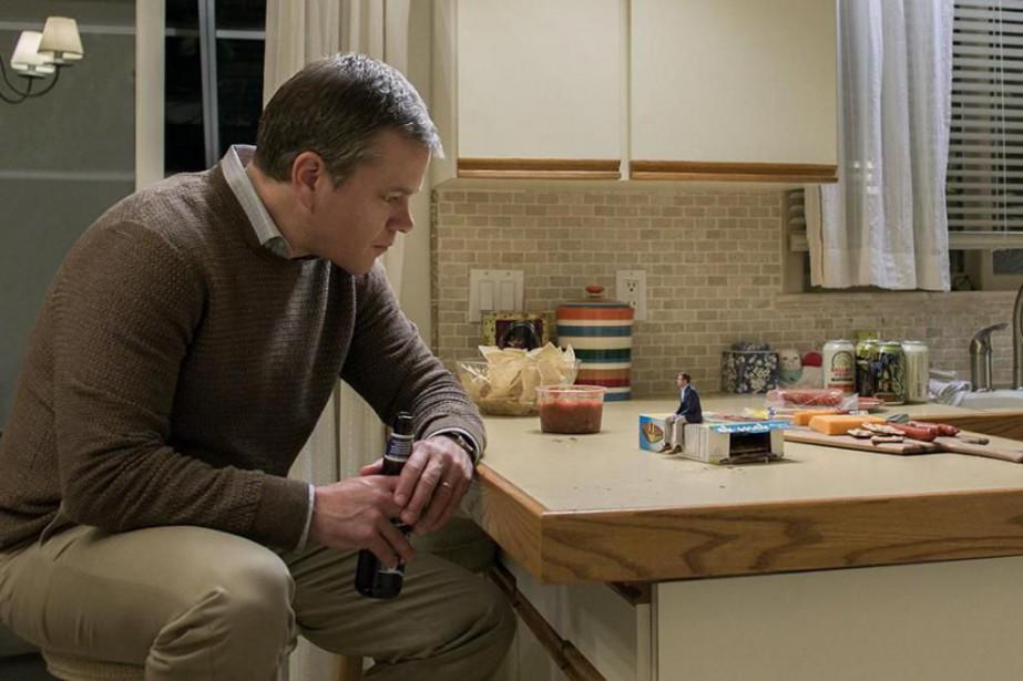 Matt Damon et Jason Sudeikis dans Downsizing.... (Photo fournie par Paramount Pictures)