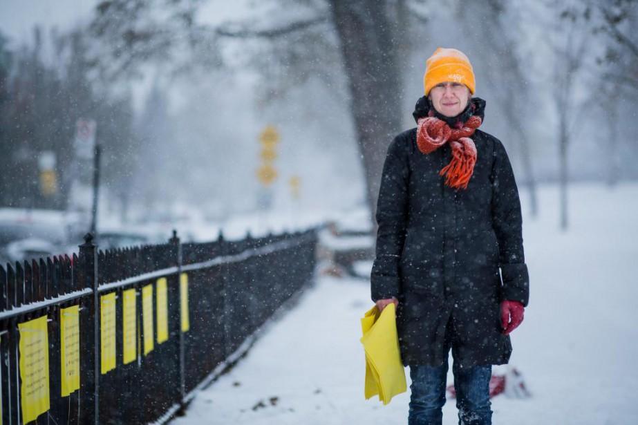 Patsy Van Roost, «la fée du Mile End»... (Photo Edouard Plante-Fréchette, La Presse)