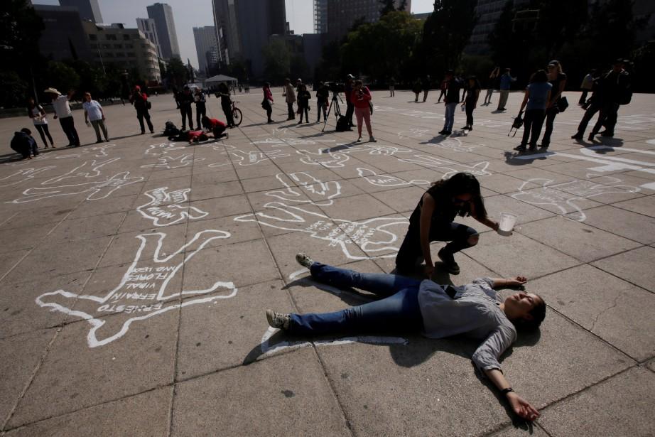 Au Mexique, 23 101 homicides ont été enregistrés... (REUTERS)