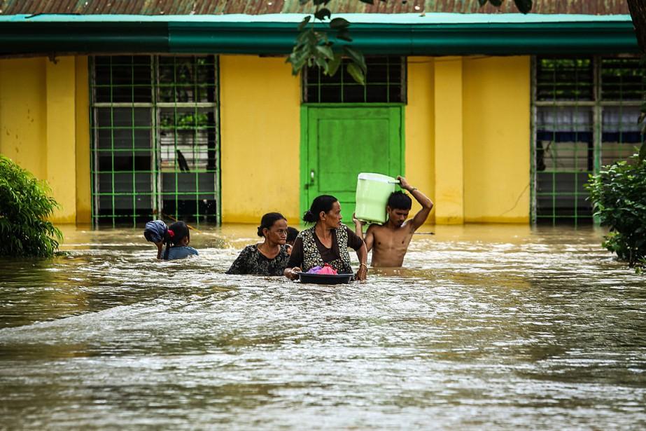 Plus de 12000habitants de l'île Mindanao ont dû... (PHOTO FERDINANDH CABRERA, AGENCE FRANCE-PRESSE)